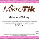 گواهی بین المللی میکروتیک محمود فخری MTCNA